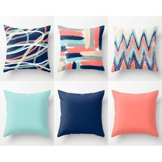 Accent pillows: one on bed, one on chair