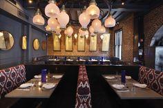 Jue Lan Club restaurant by Dutch East Design, New York City Visual Merchandising, French General, Branding, Design Furniture, Stores, New York City, Dutch, Bbq, Chandelier