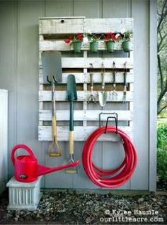 How Do You Organize Your Gardening Tools? Let's Share Our Ideas! Send us a picture and we will add it to this album! This way everybody can share and use good ideas of organizing our gardening tools!