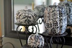 mops ideas | MOPS Ideas / black and white pumpkin