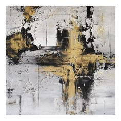 Black And Gold Painting GOLD Abstract Painting by VortegaFineArt