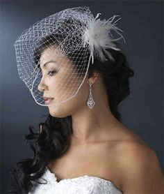 Birdcage veil with hair down I hope my hair will e long enough for this :3