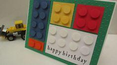 Boys happy birthday card with LEGO bricks by koensmir on Etsy, $3.00
