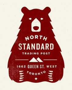 North Standard Logo / bear / repinned on toby designs