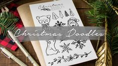 How to Draw Cute Christmas Things Christmas Doodles, Christmas Things, Led Pencils, Colouring Techniques, Planner Organization, Cute Characters, Painting Tips, Crafts To Do, Cute Drawings