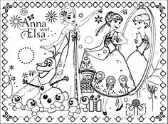 35 FREE Disneys Frozen Coloring Pages Printable Free