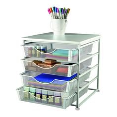 <div><div>Keep all of your favorite crafting supplies within reach with this handy organizer. Fe...