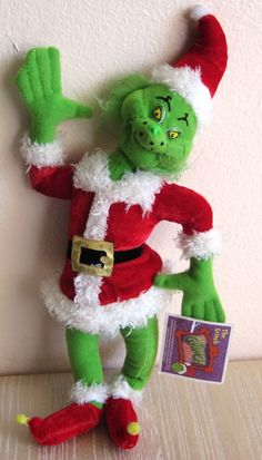 The Grinch Christmas Plush Year 2000 collectible on sale: Grinch Christmas, Christmas Toys, Christmas Ornaments, Elf, Cool Things To Buy, Vintage Items, Plush, Seasons, Holiday Decor