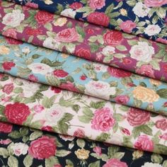 Pink Roses Blooming 100% Cotton Fabric