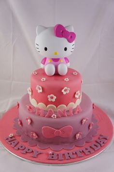 Hello Kitty Birthday Cake Design Cat Party Unique Cakes Occasion