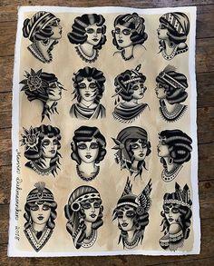 67 Ideas tattoo old school arm american traditional flash art Traditional Tattoo Girl Head, Traditional Gypsy Tattoos, Traditional Tattoo Old School, Back Tattoos Spine, Head Tattoos, Girl Tattoos, Tattoo Spine, Retro Tattoos, Vintage Tattoos