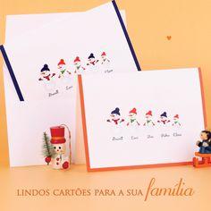 Lindos Cartões de Natal para sua família! Arrase neste natal!  #snowfamily #cartõesdenatal #natal #papelariadeluxo #papelariapersonalizada #cartoesdafamilia   Compre online • paperview.com.br • receba em casa