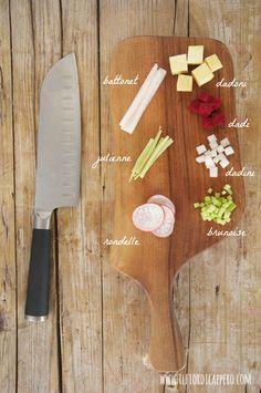 tagliare le verdure - cut vegetables