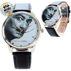 Salvador Dali Wrist Watch Gift for Birthday, Wedding, Valentine's Day, on March 8
