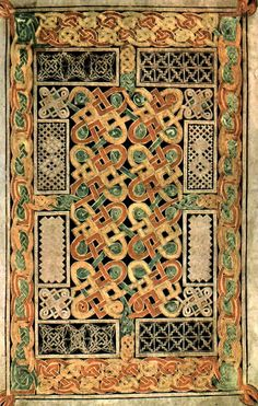 Page from the 7th Century Book of Durrow.