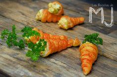 Falsas zanahorias con ensalada de huevo