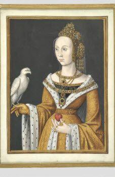 Portrait d'une princesse tenant un faucon sur la main droite Maître des anciens Pays-Bas  © Musée du Louvre, dist. RMN / Martine Beck-Coppola Département des Arts graphiques