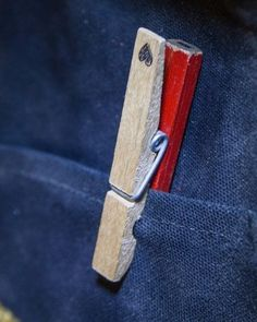 Secure a carpenter's pencil using a clothes pin
