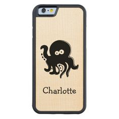 Fun Octopus Personalized Maple wood iPhone 6 Bumper Case from #Ricaso