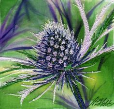Alison Holt, Eryngium - embroidery http://www.alisonholt.com/showcards.php?cartId=start