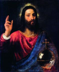 ティツィアーノ・ヴェチェリオ「祝福するキリスト」 (1570)