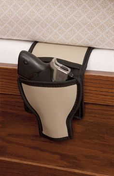 Slip this Bed and Couch holster between the mattress and box spring to keep your handgun close! Fits between couch cushions too, and you can even sit on it in your car!