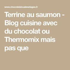 Terrine au saumon - Blog cuisine avec du chocolat ou Thermomix mais pas que