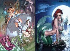 Pequena Sereia + Alice