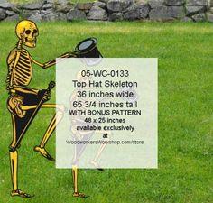 05-WC-0133 - Top Hat Skeleton Yard Art Woodworking Pattern