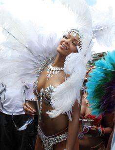 Rihanna a fêté déshabillée le Carnaval de la Barbade, son île natale