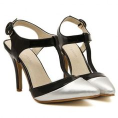 $14.18 Trendy Women's Pumps With Color Matching and Hollow Out Design