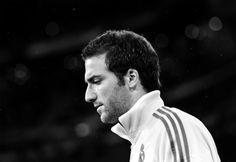 Higuain looking oh-so-serious. It's Champions League after all. Real Madrid CF v GNK Dinamo Zagreb