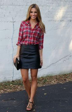 Plaid and leather. Love this. But where can I wear it!?