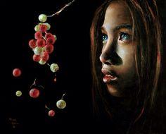 Forbidden Fruit by Akiane Kramarik  In her praying she was told to depict Eve as…