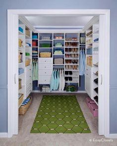 Amplio sencillo y muy bien organizado. #IdeasenOrden #closets #decoracion