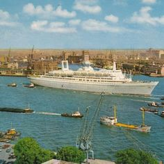 SS Rotterdam ship in his glory years. Via #hefexperience #facebook |Pinned from PinTo for iPad|