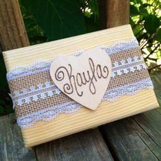 Bridesmaid Gift Box  6 Personalized by shabbyweddingdecor on Etsy