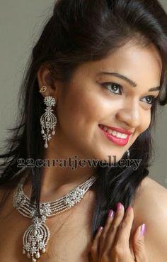 Jewellery Designs: Ashwini in Diamond necklace