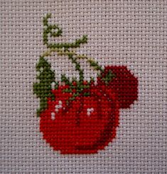 Cross Stitch Fruit, Small Cross Stitch, Cross Stitch Kitchen, Cute Cross Stitch, Cross Stitch Cards, Cross Stitch Rose, Cross Stitch Flowers, Cross Stitching, Cross Stitch Embroidery