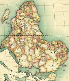 What Africa would look like without colonisation - Obviously speculation, the map was constructed based on the tribal and political maps before 1844.