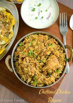 Chettinad spicy chicken biryani