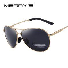 bc4054cd2e MERRY S Top quality Sunglasses Men Polarized Brand Designer 2016 Fashion  aviator Driving Sun Glasses Mens Sunglasses