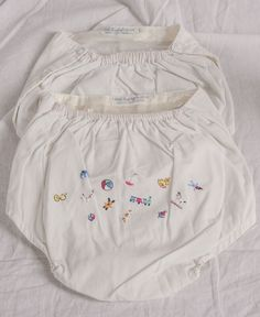 2 1950s, Swiss made, Nathan Kranskopf, infant, plastic panties, diaper covers, one embroidered by TessiesOldOddities on Etsy