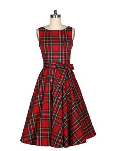 new style 2017 summer women retro red plaid dress female long sleeveless one-piece dresses girls fashion vestidos with belt Red A Line Dress, Red Skater Dress, Red Sleeveless Dress, Dress Red, Red Sundress, Skater Dresses, Belted Dress, Dress Long, Middy Dress