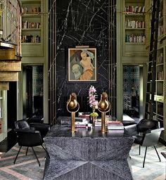 Mercer Island, Washington - Kelly Wearstler Beautiful Interior Design, Office Interior Design, Best Interior, Home Interior, Beautiful Interiors, Interior Architecture, Interior Decorating, Modern Interiors, Deco Interiors