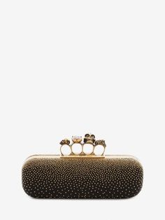 Shop Women s Studded Knuckle Box Clutch from the official online store of  iconic fashion designer Alexander McQueen. d0ff2bc4db37d
