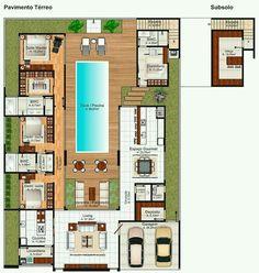 Gostei dos quartos para a piscina e a varanda