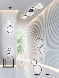 Stojanová LED lampa RONDO BLACK. Svietidlá Reaction. House Doctor, Led Lamp, Aluminium, Blinds, Modern, Curtains, Elegant, Room, Table