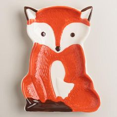 $5.99 One of my favorite discoveries at WorldMarket.com: Ceramic Fox Spoon Rest