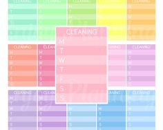 Printable Cleaning Sidebar Stickers  Cleaning Stickers Cleaning Sidebar planner stickers Sidebar To Clean Weekly planner stickers ECLP by EnjoyPlanning on Etsy
